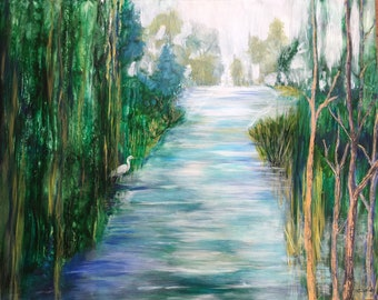 Wekiva River original mixed media painting