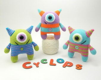 Cyrus the Cyclops - Amigurumi Crochet Pattern