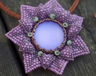 TUTORIAL - Mina, DIY pendant with seed beads
