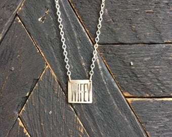 Silver WIFEY pendant
