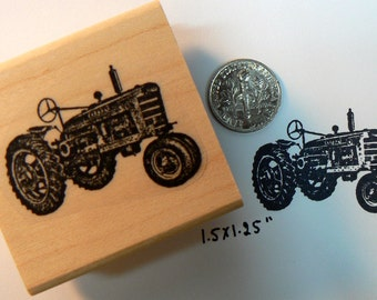 P32 Miniature tractor rubber stamp.