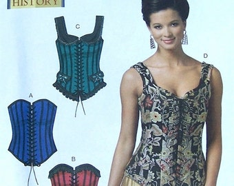 Butterick Corset Pattern Sizes 2 to 10