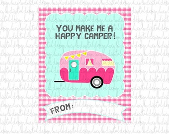 VALENTINES - CAMPING Cards - PRINTABLE Valentine Cards