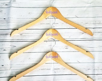 4 Personalized Hangers - bride - bridesmaid - bundle