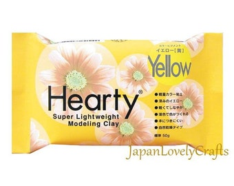 Japanese Hearty Yellow Clay, 50g, Super lightweight Modeling Clay, Padico, Fake Sweets, Food Miniatures, Figure Doll, Accessories, DIY, c002
