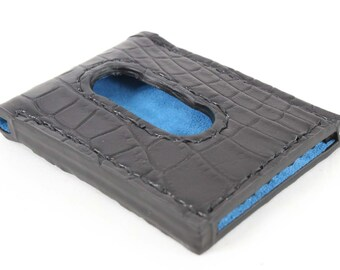 Real American Alligator Business Card Holder - multiple card slide