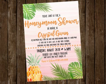 Tropical Bridal/Honeymoon Shower