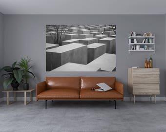 Black & White Concrete Block's Self Adhesive Vinyl Art Decals 1003