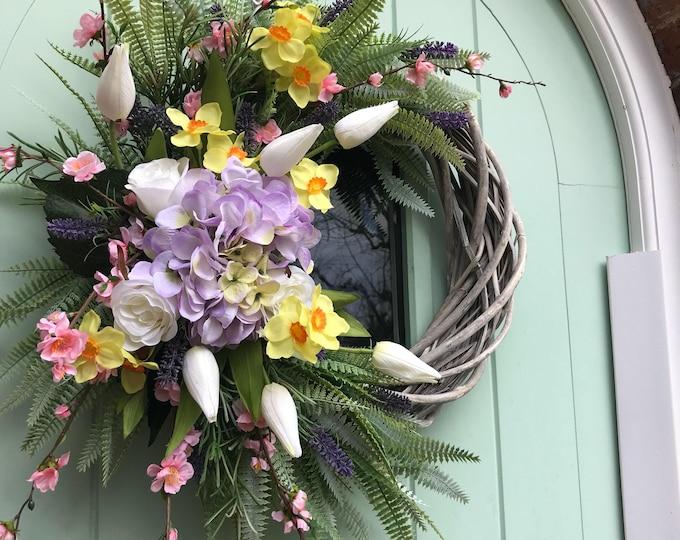 Gorgeous Spring flower wreath