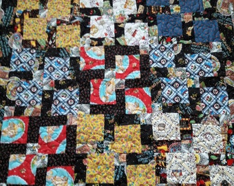 Lap Quilt for Wheelchair Patients, Gift for Grandparent, Lap Blanket, Mother's Day gift, Leg warmer for Nursing Home Residents, chair quilt