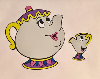 Mrs. Potts and Chip Decal Disney Beauty and the Beast