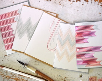 Pattern Notecards : Set of 5