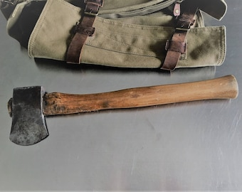 Vintage Hatchet - Camping Axe - Woodsman Tool - Hand Forged