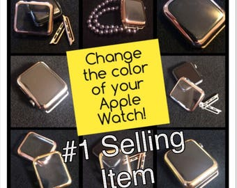 COVER Case Apple Watch Series 3 2 1 BUNDLE Two Covers  iWatch 38mm 42mm 38 42 Color choices Gold Silver Rose Gold womens band TimeKitsUSA
