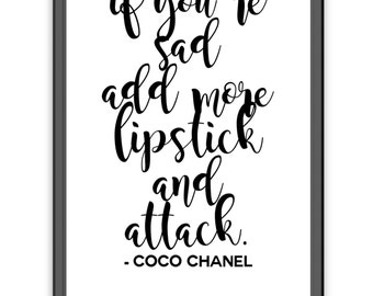 Coco Chanel // Inspirational Quote // Wall Art // Home Decor // Bedroom Dressing Room Ideas