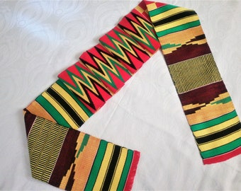 African sash, Kente Scarf, Kente stole, Ghana Stole, fathers day, dad, Ghana Scarf,  Clergy Stole, Gift for dad, Clergy Scarf, from daughter