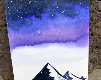 Original Mountain Block Painting
