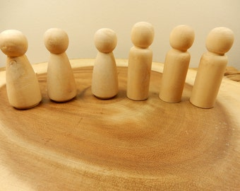 Groom Wooden Peg Dolls, DIY Cake Topper, Bride, Groom, Blank Wood Dolls, Crafting Supplies, Wood Figures