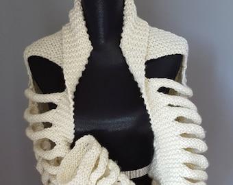 SALE Bolero shrug shawl with arms gift for her gift idea handmade knitted shawl bolero shrug with arms gift idea for her