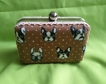 Boston terrier box clutch