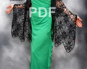 PDF Pattern, Crochet Astrid Shawl , Crochet Shawl Pattern, DIY