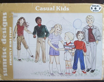 Vintage Sewing Pattern Child's Sizes 5, 6, 7, Year Round Casual Wear