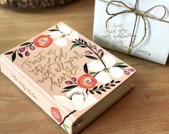 Floral Hand Painted Bible 'Trust in the Lord'