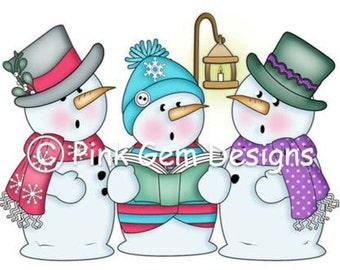 Digi Stamp 'Singing Snowmen'.Makes Cute Christmas Cards