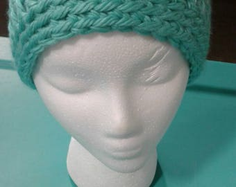 Turquoise Chunky Hat
