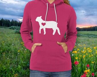 Lamb Hoodie / Sheep Hoodie / Gift for Lamb Lover / Gift for Sheep / Sheep clothing / Barn Birthday Party / Farm Hoodie / Lamb Clothing