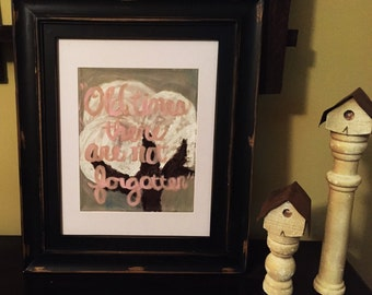 Cotton Painting w/ frame
