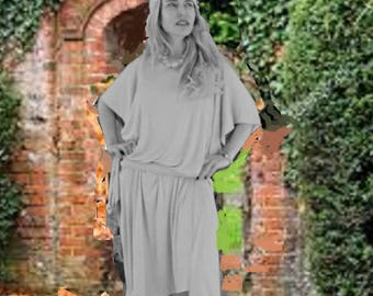Flowy dress   plus size dress  Off Shoulder Boho Dress  Short Sleeve Loose Dress   Summer dress   Comfy dress   beach party dress