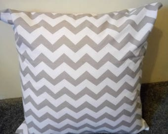 Grey And White Chevron Pillow Cover