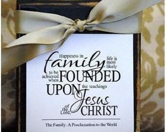 Family Proclamation Print, Super Saturday idea