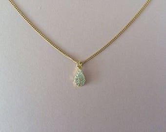 Crystal Tear Drop Pendant Bridesmaid Necklace Gift