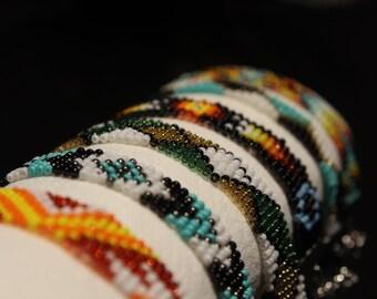 handmade multicolor beaded bracelet