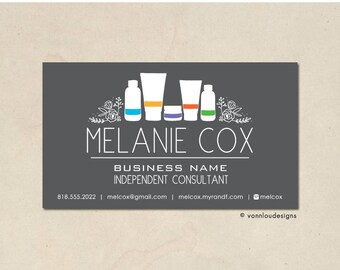 printable - skin care business cards - mommy calling cards - original hand illustrated bottle florals - personalized - skin business - DIY