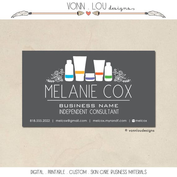Printable skin care business cards mommy calling cards colourmoves