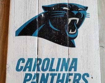 dCarolina Panthers Handmade Sign, Vintage Look Reclaimed Wood Sign, Panthers Sign, Panthers Gift, Dad, Boyfriend, Easter Gifts for Men