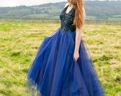 Stunning blue 1950s halte...