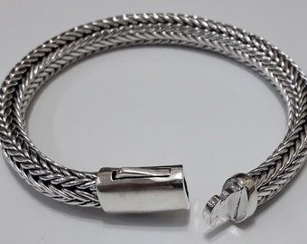 sterling silver bracelets pusher clasp