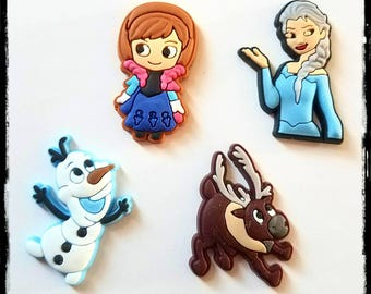 Tube Trinkets: Frozen Inspired Characters!  Please select quantity 2 for a pair! Made with soft Silicone Rubber for flexibility!