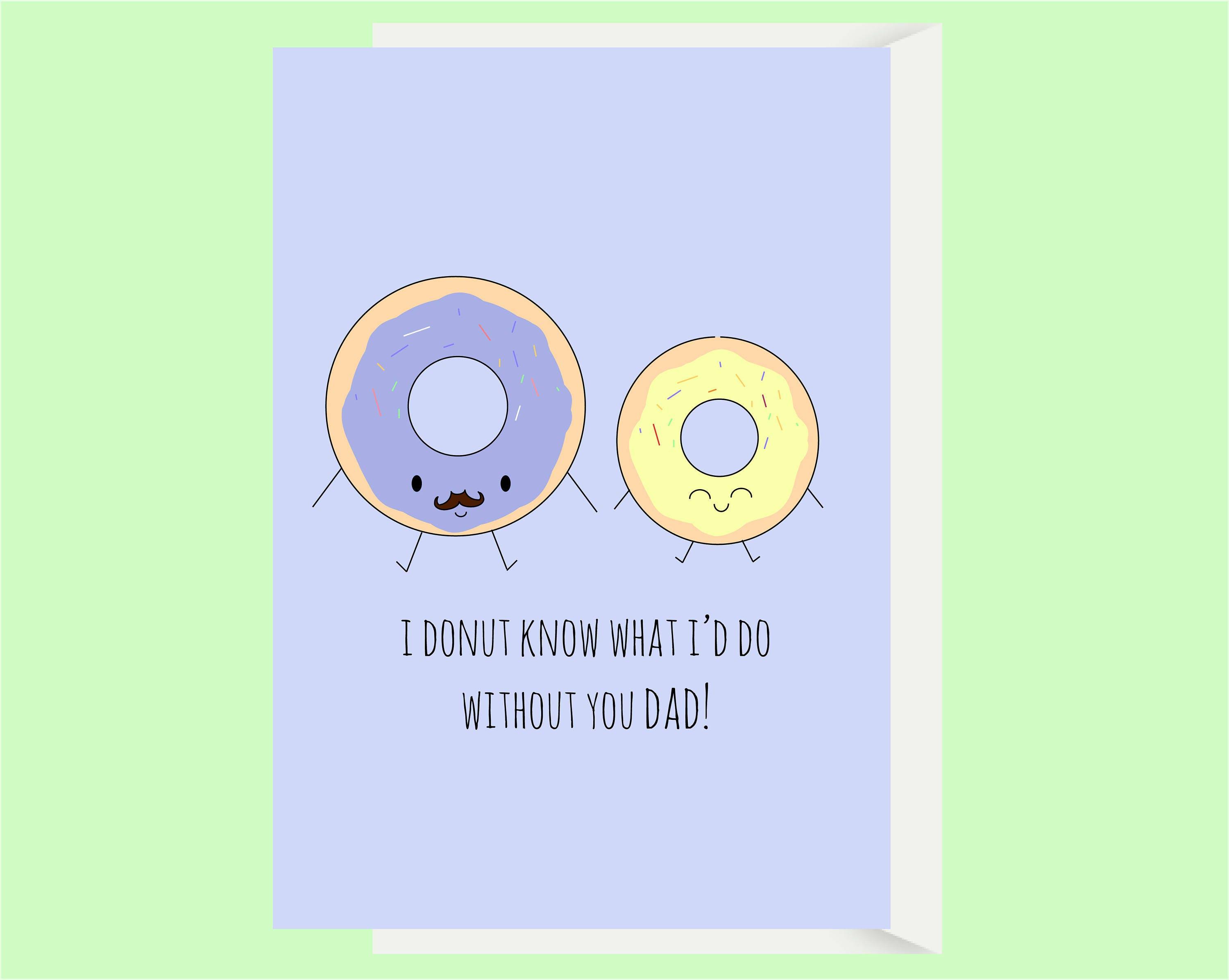 Unique funny birthday cards for dad pictures laughterisaleap funny dad card dad birthday card donut pun card card for bookmarktalkfo Gallery