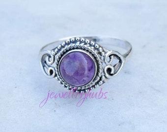 Amethyst Ring, Stone Ring,Amethyst Silver Ring,Silver Ring, Amethyst  Ring, Sterling Silver Ring, Amethyst, Amethyst Gypsy Ring