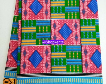 Per Yard New Kente Print fabric Supreme / Kente prints/ Shop Kente fabrics/ Kente Shop/ Kente fabric for clothing