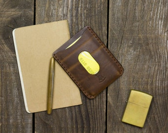 READY TO SHIP, Credit card wallet, Full grain leather, Edc, Business card case