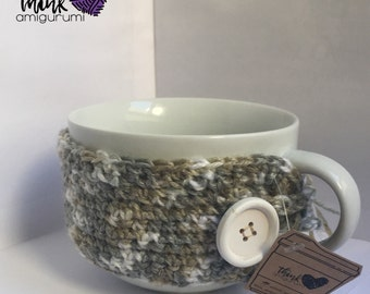 READY TO SHIP • Crochet • Like it big! • Coffee Cozy •  (Cup included)