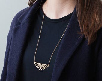 Moss necklace - gold