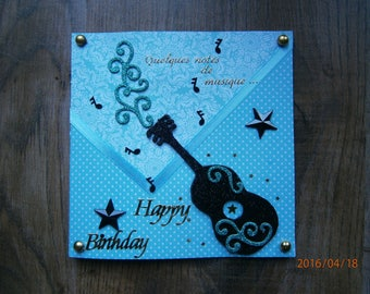 """""""Some musical notes"""" birthday card"""
