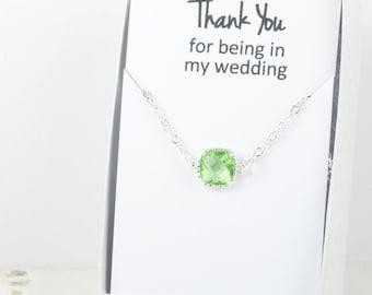 Peridot Silver Bracelet, Peridot Bracelet, Bridesmaid Green Bracelet, Bridesmaid Bracelet, Bridesmaid Jewelry, Green Wedding Accessories